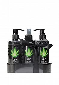 CBD - Bath and Shower - Care set - Green Tea Hemp Oil