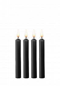 Teasing Wax Candles - Parafin - 4-pack - Black