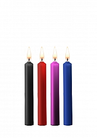 Teasing Wax Candles - Parafin - 4-pack - Mixed Colors
