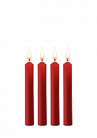 Teasing Wax Candles - Parafin - 4-pack - Red