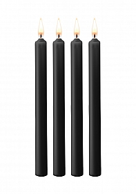 Teasing Wax Candles Large - Parafin - 4-pack - Black