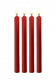 Teasing Wax Candles Large - Parafin - 4-pack - Red