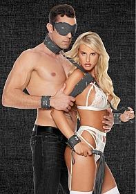 Denim Bondage Kit - Tough Denim Style - Black