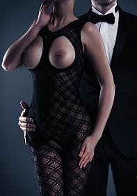 Maisie Bodystocking - Black - One Size