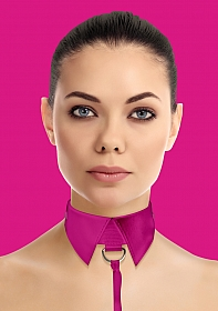 Classic Collar with Leash - Pink