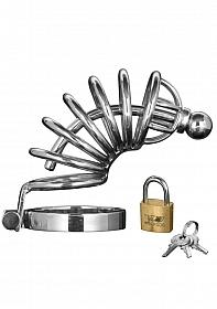 Asylum - 6 Ring Chasity Cage