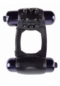 Duo-Vibrating Super Ring - Black