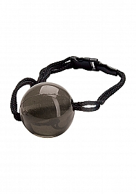 Japanese Silk Love Rope Ball Gag - Black