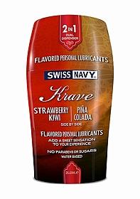 Krave 2-in-1 - Strawberry Kiwi & Pina Colada - 2x25 ml