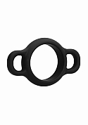 Cock Ring With Handles - Black