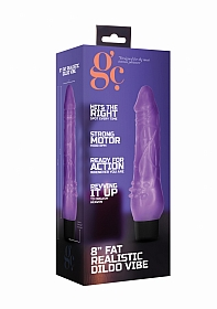 8 Inch Fat Realistic Dildo Vibe - Purple