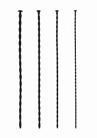 Silicone Spiral Screw Plug Set - Beginner Urethral Sounding - Bl