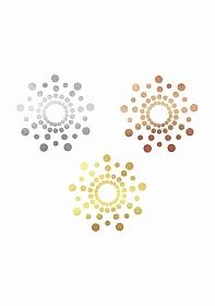 MIMI - Metallic Skin Transfer Decorations - Gold, Silver, Bronze