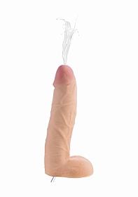 10 Inch Realistic Dual Density Squirting Dildo - Flesh